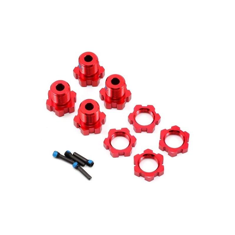 TRAXXAS Hexagones alu 17mm rouge 5353R