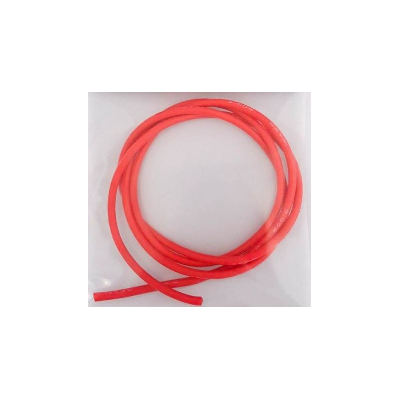 RC CONCEPT Fil Silicone 12AWG Rouge (1m), 2230R12
