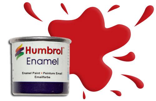 Humbrol Peinture enamel 019 Rouge Vermillon