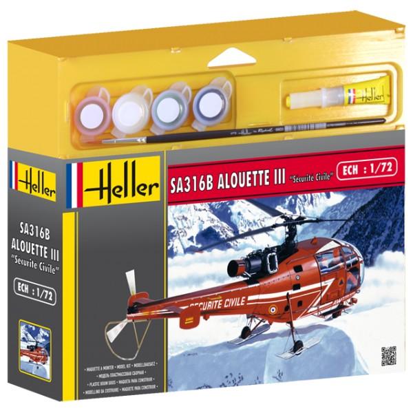 Heller Alouette III sécurité Civile 1/72