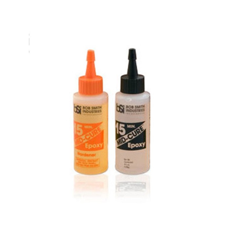 PN RACING Colle epoxy bi-composants MidCure 15 Min (128 g), BSI203