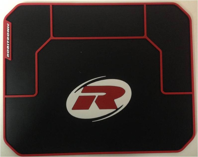 Tapis d\'établis mini noir (24,9x19,5 cm) Robitronic