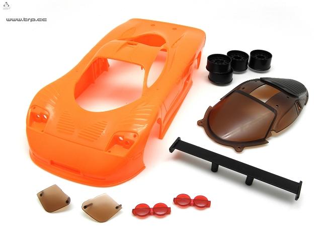 Carrosserie MiniZ TRPScale Mosler MT900 Orange à peindre