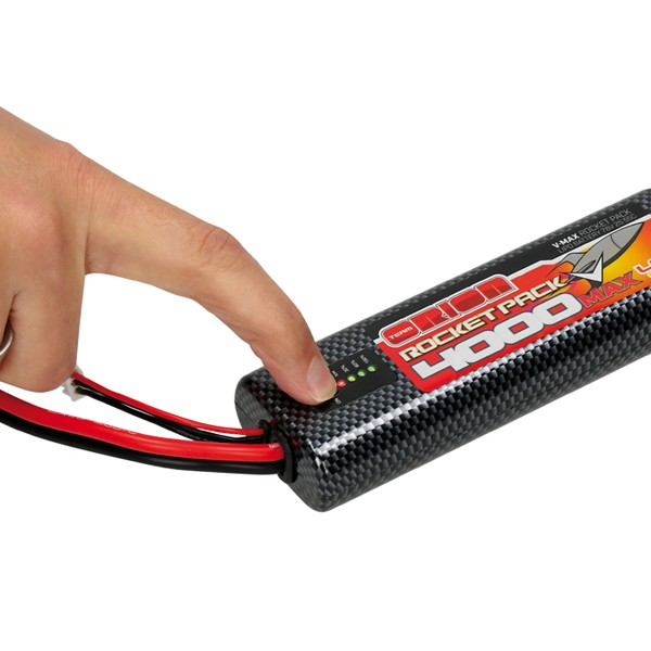 ORION BATTERIE LIPO 2S ROCKET V-MAX 4000-55C (7.6V) LED ROUND - DEANS