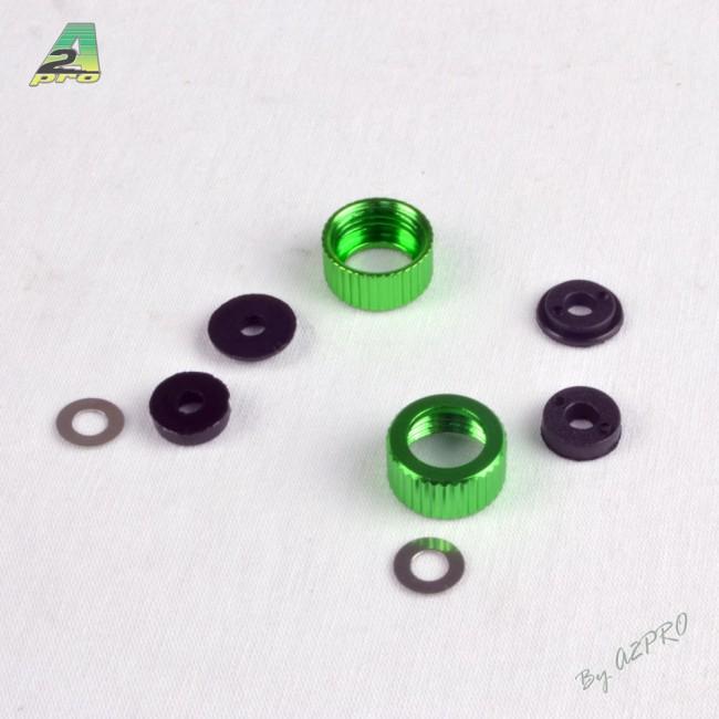 A2P  Capuchon et écrou inférieur pour amortisseur (2 jeux) C10110