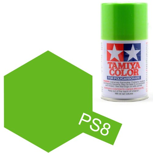 TAMIYA PS08  vert claire Bombe peinture lexan 100ml, TAMI86008