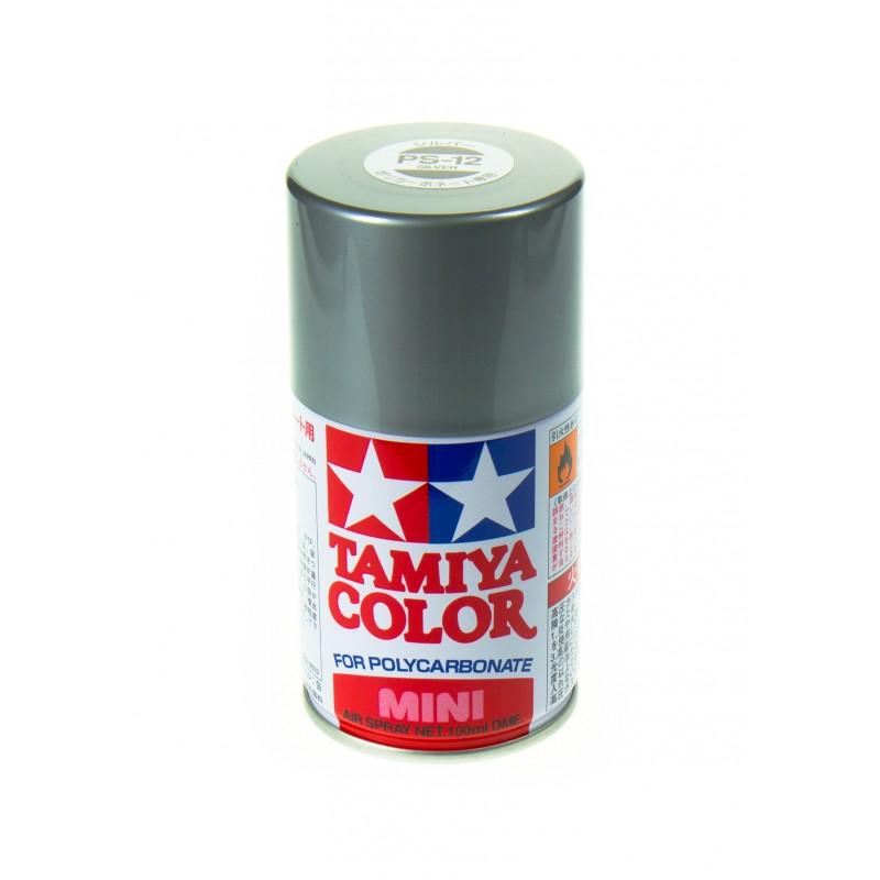 TAMIYA PS12 ARGENT Bombe peinture lexan