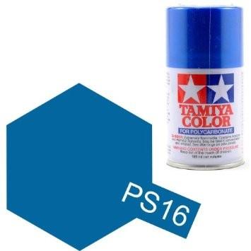 TAMIYA PS16 Bleu Métal Bombe peinture Lexan