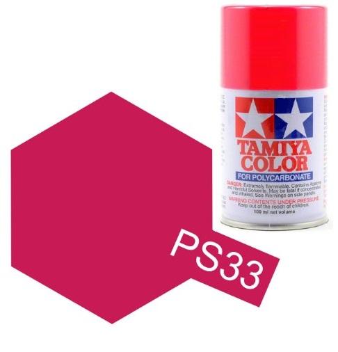 TAMIYA PS33 Rouge Cerise peinture Lexan