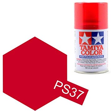 TAMIYA PS37 rouge translucide Bombe peinture lexan 100ml, TAMI86037