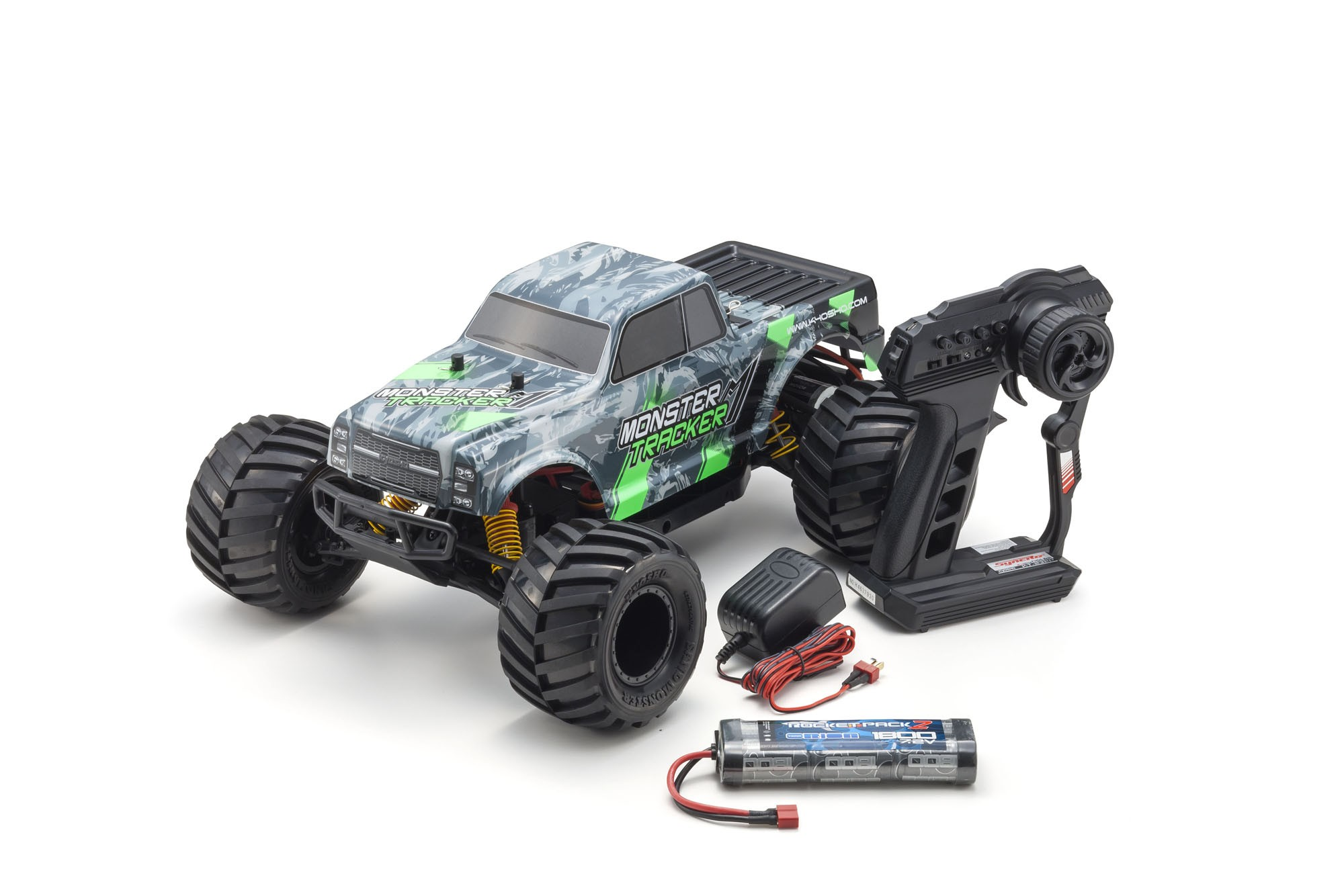KYOSHO MONSTER TRACKER 1:10 EP (KT232P) - T1 VERT READYSET, 34403T1B