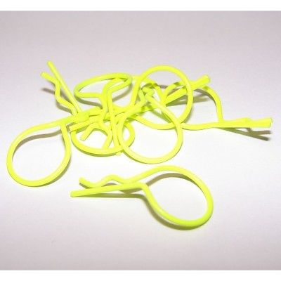 FASTRAX CLIPS DE CARROSSERIE JAUNE FLUO X8, FAST213FY