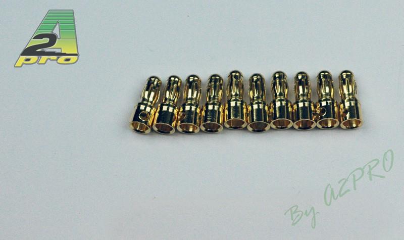 A2P Contact mâle plaqué OR 3,5mm (10 pièces), 14031