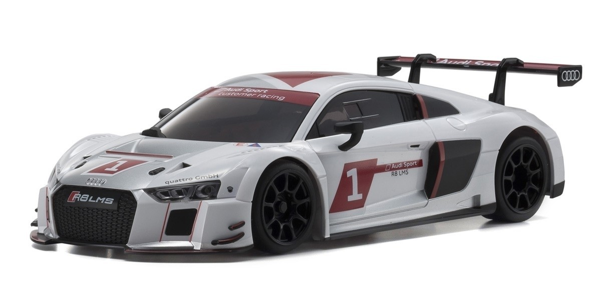 KYOSHO AUTOSCALE Mini-Z AUDI R8 LMS 2015 WHITE (W-MM), MZP234AS