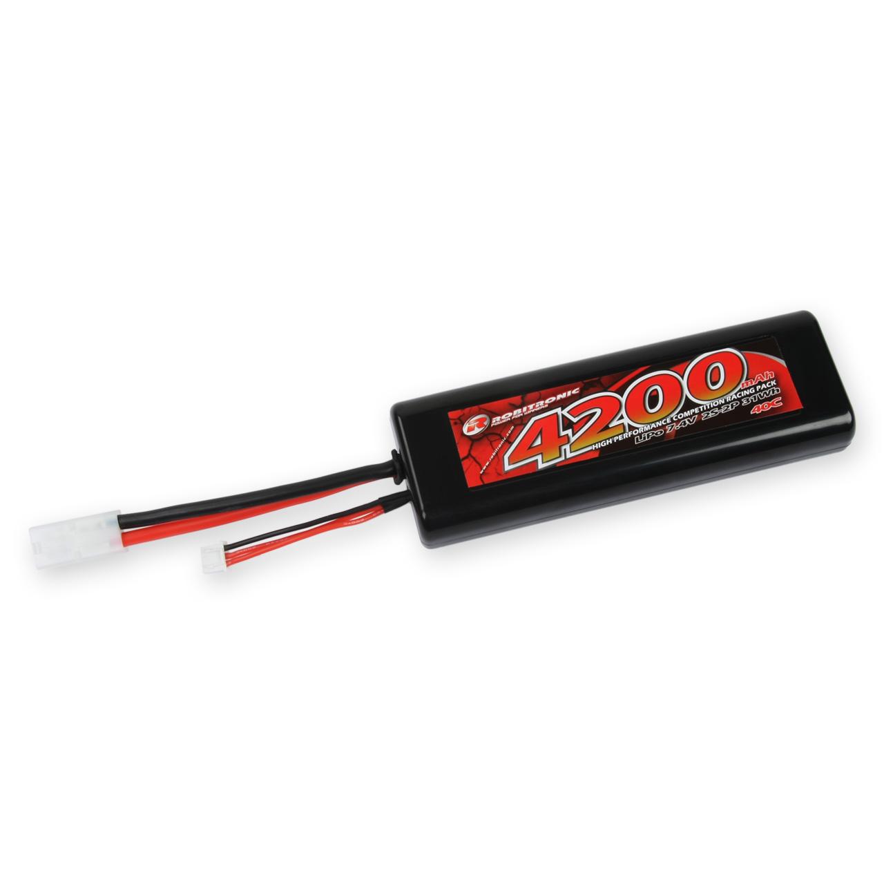 Robitronic LiPo Battery 4200mAh 2S 40C Tamiya Stick Pack, R05231