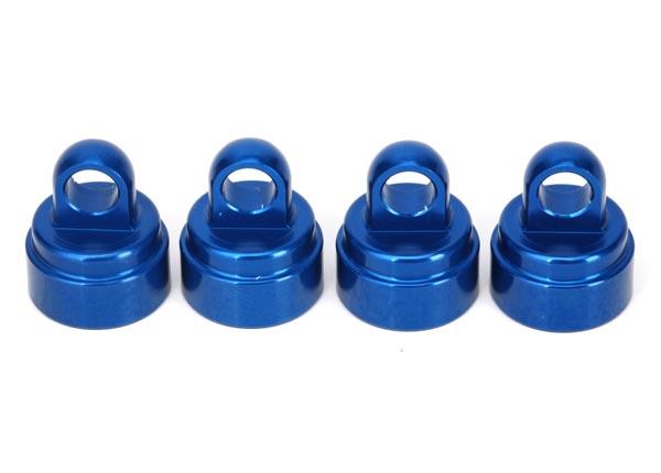 TRAXXAS Bouchons amortisseurs alu anodisé bleu (4), 3767A