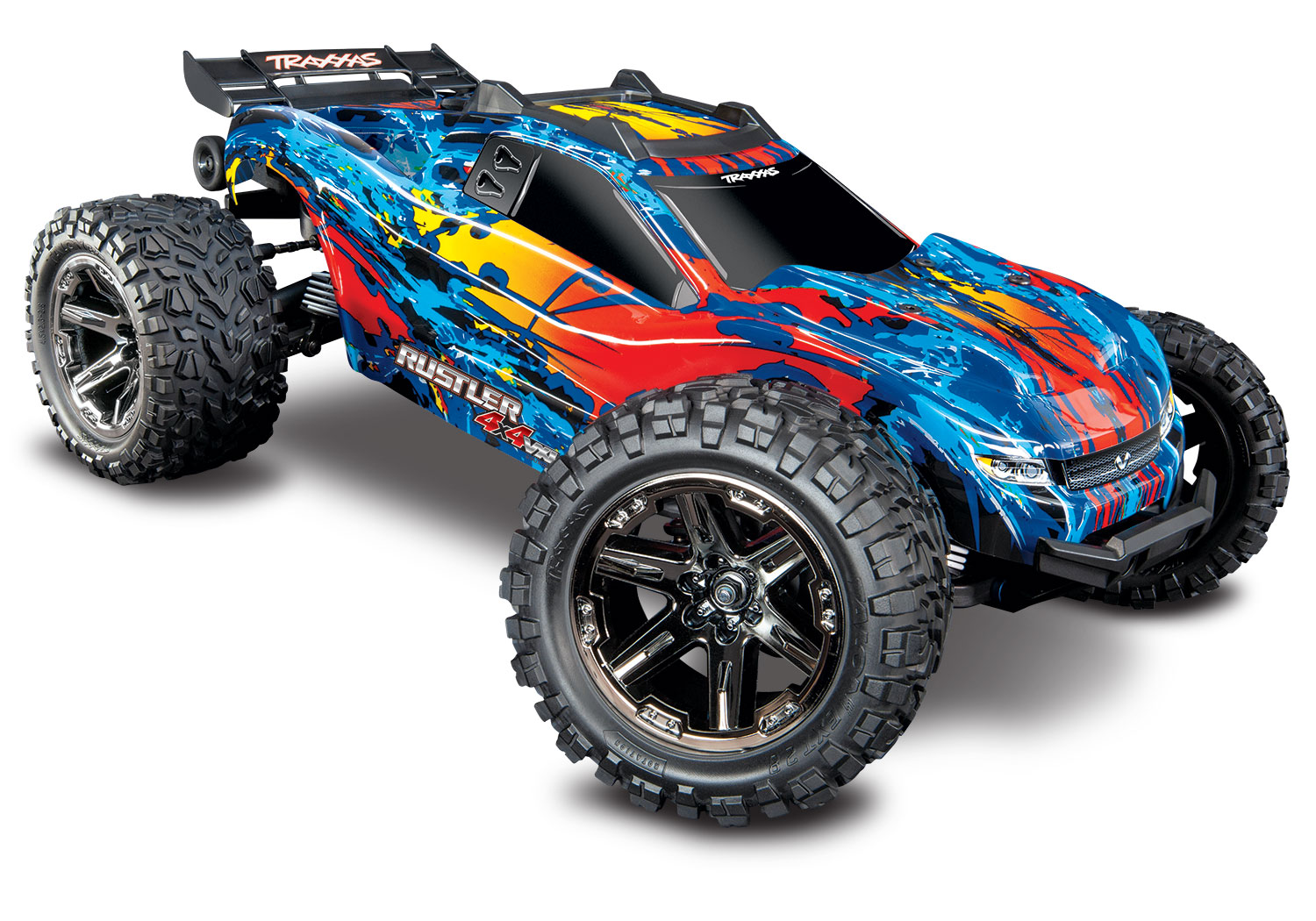 TRXXAS RUSTLER 4x4 Rouge 1/10 VXL Brushless - TSM, TRX67076-4-RED