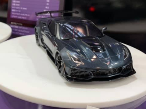 KYOSHO PRECOMMANDE AUTOSCALE Mini-Z CHEVROLET CORVETTE ZR1 SHADOW GREY (W-MM), MZP240GM