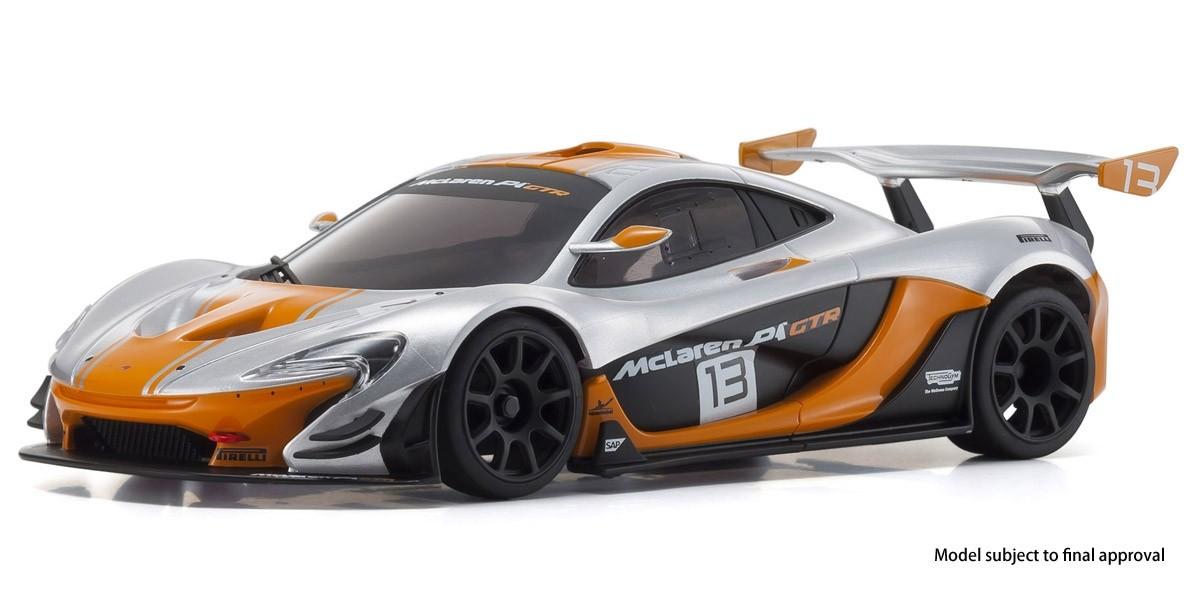 MINI-Z RWD McLaren P1 GTR Silver/Orange Readyset RTR, 32324SO