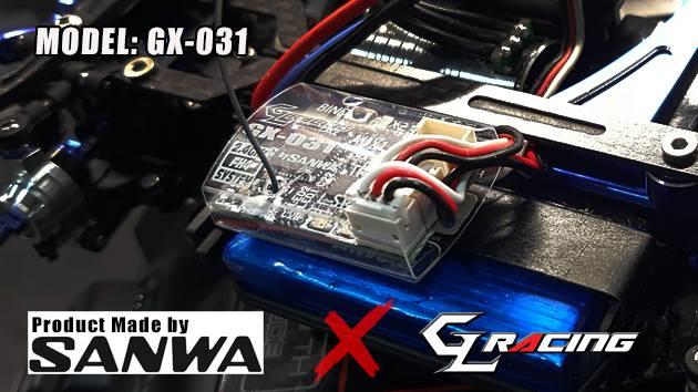 GL RACING Micro Récepteur Sanwa/Airtronics FHSS-4, GX-031