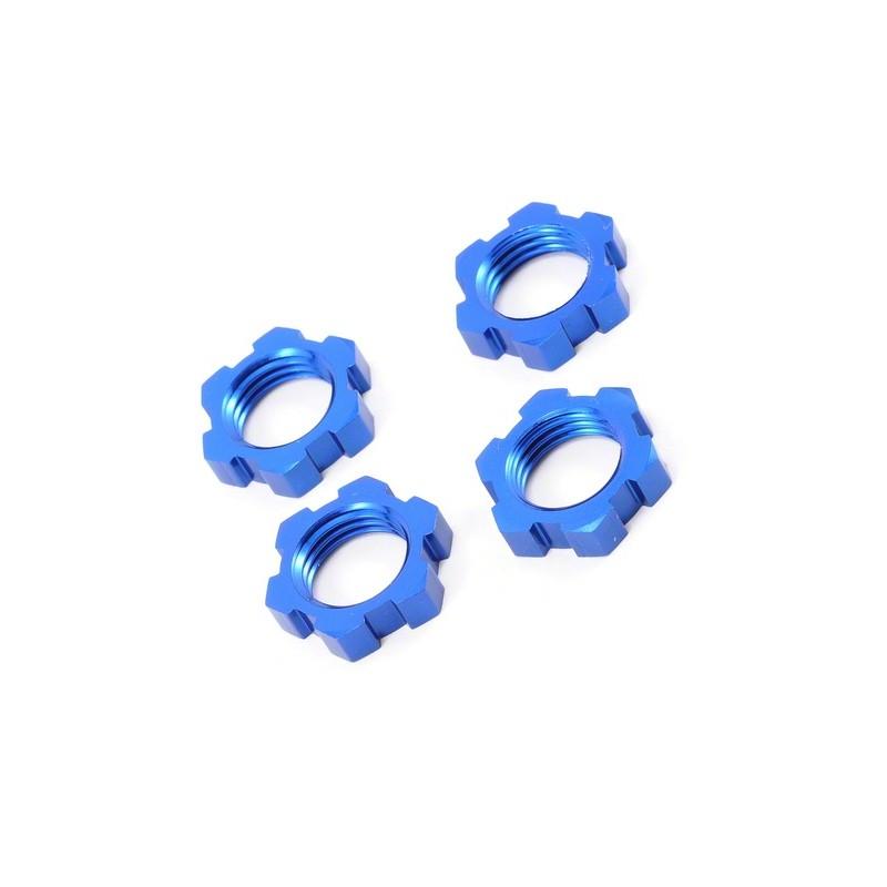 TRAXXAS Ecrous Alu 17mm bleu (x4), 5353