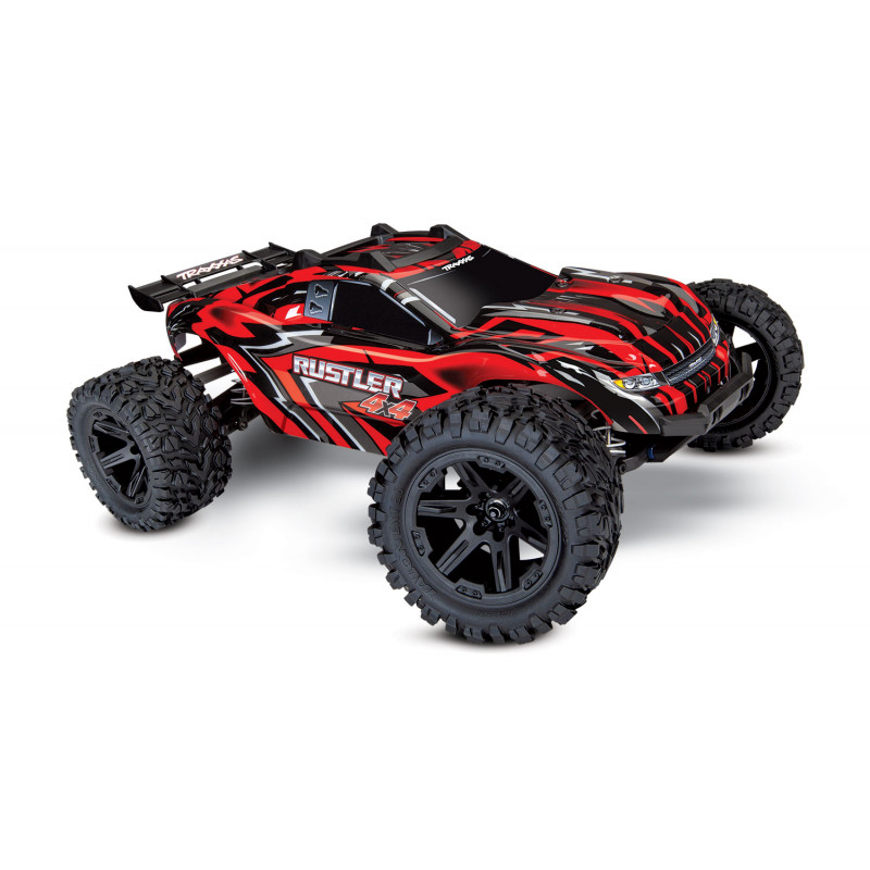 TRAXXAS RUSTLER - 4x4 -ROUGE - 1/10 BRUSHED STADIUM TRUCK TQ 2.4GHZ, 67064-1-RED