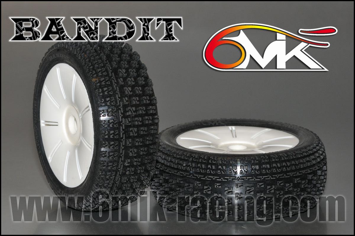 6MIK Pneus Bandit + Jantes Ultra Blanches 15-25°, TU81525