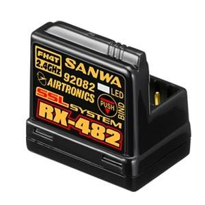 SANWA RECEPTEUR RX-482 4 VOIES 2,4GHZ FH4 SSL/TELEMETRIE ANTENNE INTEGREE, 107A41257A