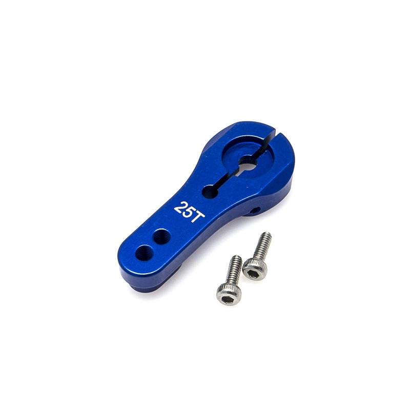HOBBYTECH  Palonnier de direction en alu 25T Bleu 24mm, HT-510025-BL