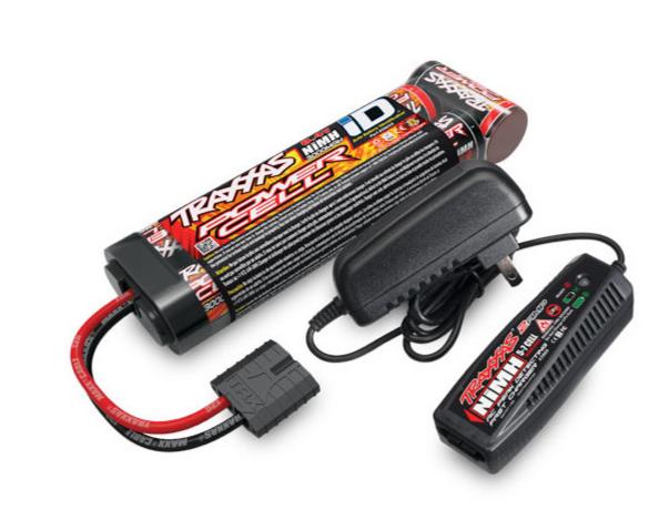 Traxxas Chargeur 4A + Ni-Mh 8.4V 3000mAh plat, 2983G