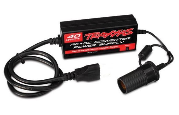 TRAXXAS Alimentation 230VAC 12V 40W pour prise allume cigare, 2976G