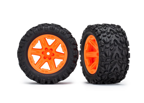 TRAXXAS Roues RXT Oranges Talon 2.8 (x2) Rustler 4X4, 6773A