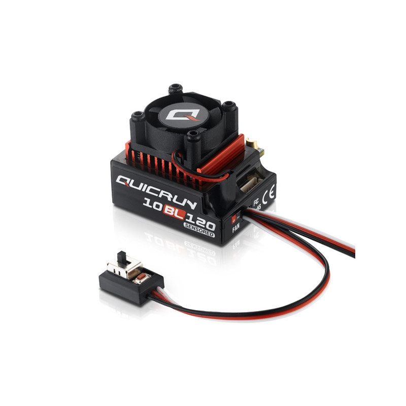 Hobbywing Variateur QuicRun 120A Sensored 10BL120, HW30125000