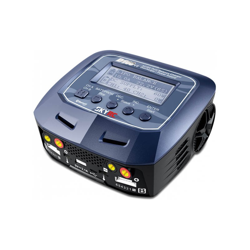SkyRc Chargeur AC/DC D100 Duo V2, 100131