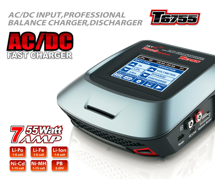 SKYRC Chargeur T6755 Touch system AC/DC, T6755