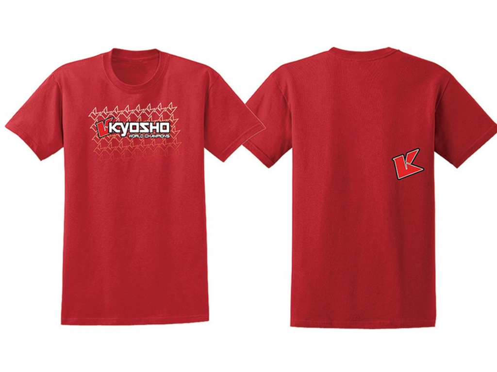 KYOSHO T-shirt K-FADE 2.0 rouge Taille L, 88002L