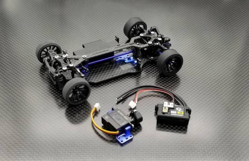 GLA-V2.1 4WD GL-Racing kit à monter avec servo et vario , GLA-V2-001-KSET