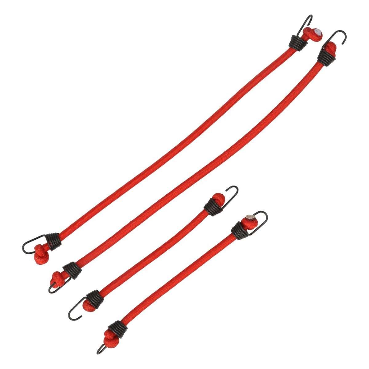 ROBITRONIC Tendeurs elastiques 4 pièces Rouge, R21003R