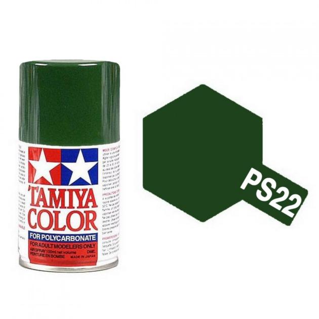 TAMIYA PS22 Vert racing Brillant Bombe peinture Lexan