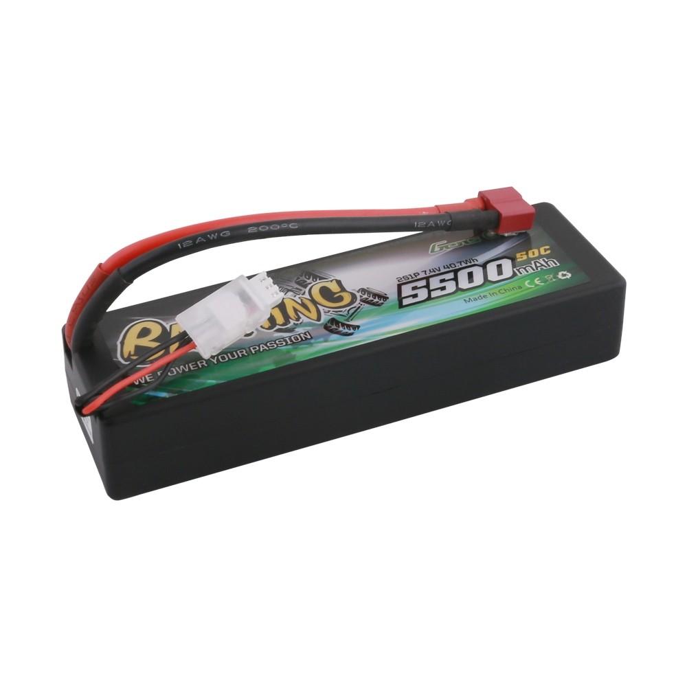 GENS ACE Bashing Batterie LiPo 2S 7.4V-5500-50C(Deans) 139x47x25mm 245g, GE3-5500-2D