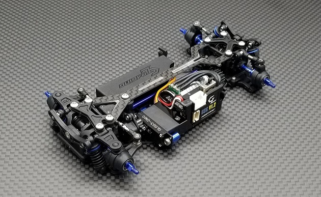 GL RACING - GLA-V2.1-98MM-RTR-5250 - Châssis GLA V2 1/27 4WD pré-monté, GLA-V21-98MM-RTR-5250