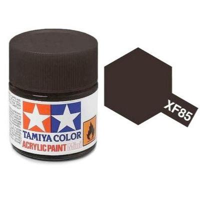 Tamiya Peinture Mini XF85 Noir Caoutchouc Mat, 81785