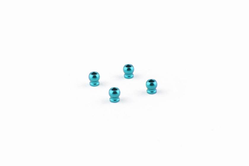 Mpower Boules d\'amortisseur en aluminium bleu (4) AWD, MAU1008C