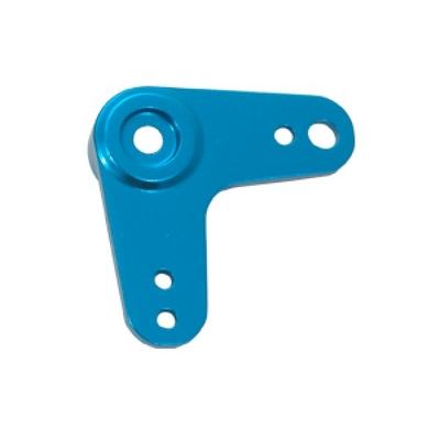FASTRAX Palonnier alu bleu 90° de servo, FAST39B
