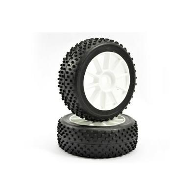 "FASTRAX pneu monté collé ""ship block"" 1/8, FAST0001"