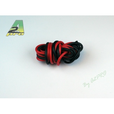 A2P Fil silicone AWG16 - 1,32mm² rouge+noir, 17160