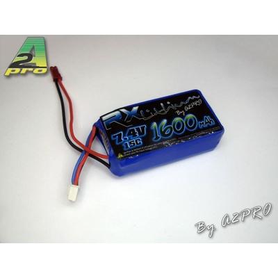 A2P Pack Lipo Rx 1600mAh / 7.4V / Bec, 91600