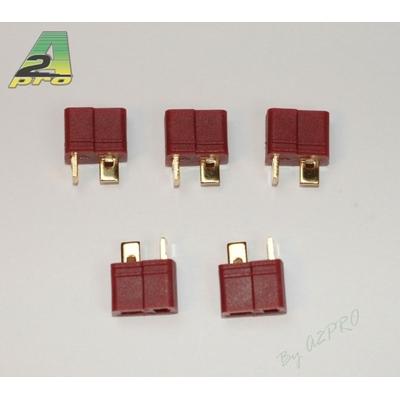 A2P Connecteur T (DEAN) femelle plaqué OR (5 pièces), 14152