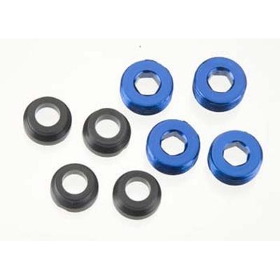 TRAXXAS Bouchons aluminium anodisés bleu de rotule 4934X