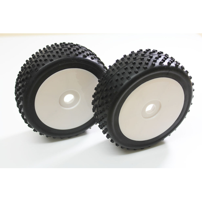 ABSIMA Roues Buggy Disc/Dirt Blanc 1/8, 2520010